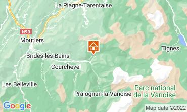 Mapa Champagny en Vanoise Estudio 30023