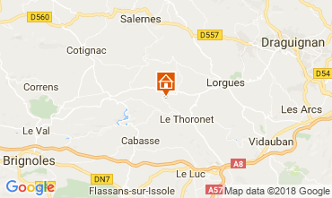 Mapa Le Thoronet Casa rural 113716