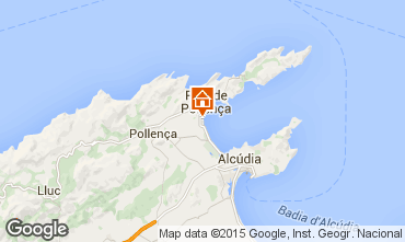 Mapa Puerto Pollensa Apartamento 63957