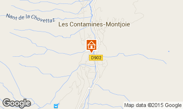 Mapa Les Contamines Montjoie Apartamento 979