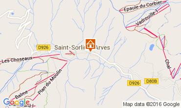 Mapa Saint Sorlin d'Arves Apartamento 105583