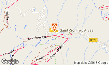 Mapa Saint Sorlin d'Arves Estudio 81448