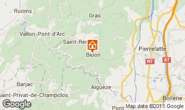 Mapa Vallon-Pont-D'Arc Casa 75616
