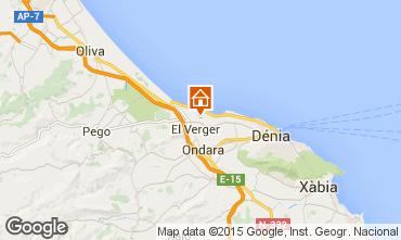 Mapa Denia Chalet 76341