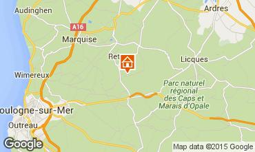 Mapa Wissant Casa rural 13677