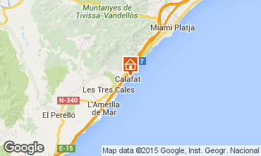Mapa La Ametlla de Mar Villa 82763