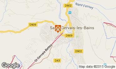 Mapa Saint Gervais Mont-Blanc Apartamento 29903
