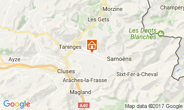 Mapa Morillon Grand Massif Chalet 74243