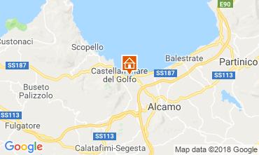 Mapa Castellammare del Golfo Villa 115689