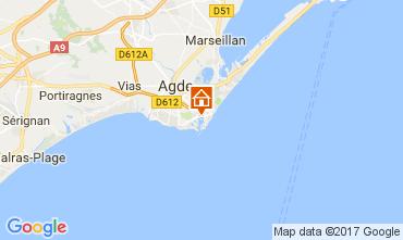 Mapa Cap d'Agde Villa 112310