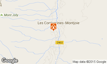 Mapa Les Contamines Montjoie Apartamento 27274