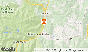 Mapa Saint Lary Soulan Apartamento 4408