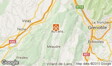 Mapa Autrans Casa rural 71676