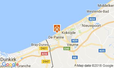Mapa La Panne Apartamento 115178