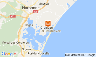 Mapa Gruissan Apartamento 110897