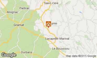 Mapa Rocamadour Casa rural 15792