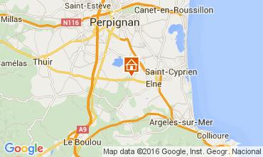 Mapa Argeles sur Mer Villa 80966