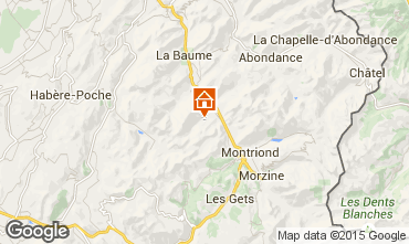 Mapa Saint Jean d'Aulps- La Grande Terche Chalet 20217