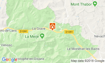 Mapa Villar-d'Arêne Chalet 51065