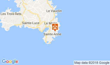 Mapa Sainte Anne (Martinique) Villa 88363