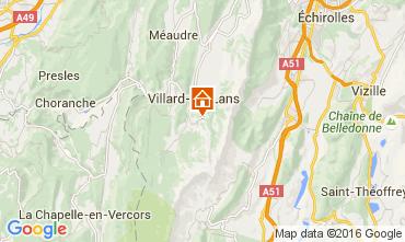Mapa Villard de Lans - Corren�on en Vercors Estudio 76528