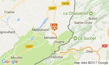 Mapa Métabief Apartamento 3729