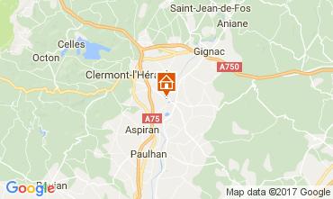 Mapa Clermont l'Hérault Villa 108631