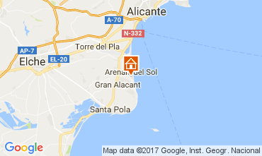 Mapa Alicante Apartamento 111971
