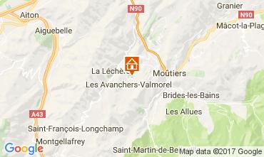 Mapa Valmorel Chalet 111883