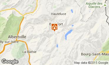 Mapa Areches Beaufort Chalet 79429