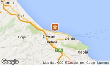 Mapa Denia Apartamento 9697