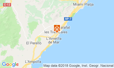 Mapa La Ametlla de Mar Villa 108717