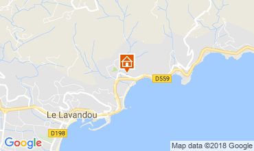 Mapa Le Lavandou Estudio 17211