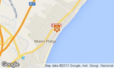 Mapa Miami Playa Apartamento 54925