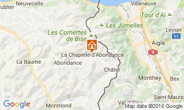 Mapa La Chapelle d'Abondance Apartamento 48985