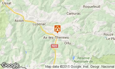 Mapa Ax Les Thermes Apartamento 99207