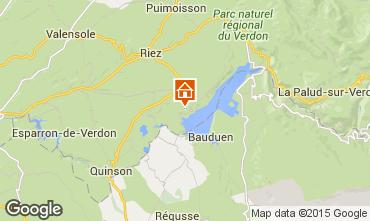 Mapa Sainte-Croix-du-Verdon Casa rural 86894