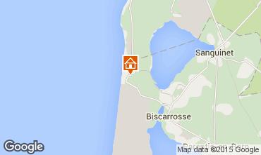 Mapa Biscarrosse habitación de huéspedes 77728