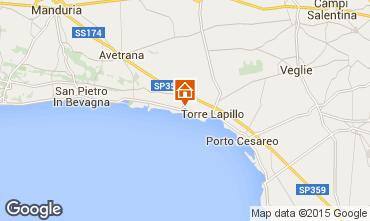 Mapa Porto Cesareo Apartamento 61664