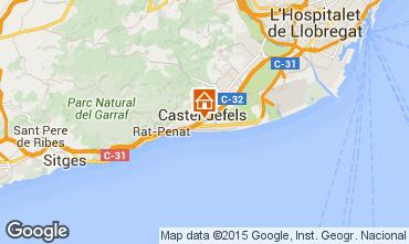 Mapa Casteldefels Apartamento 59696