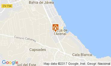 Mapa Jávea Apartamento 112514