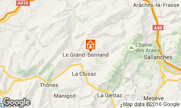 Mapa Le Grand Bornand Apartamento 1361