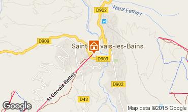 Mapa Saint-Gervais-les-Bains Apartamento 73512