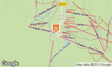 Mapa Les 2 Alpes Apartamento 82308