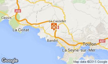 Mapa La Cadière d'Azur Villa 94916