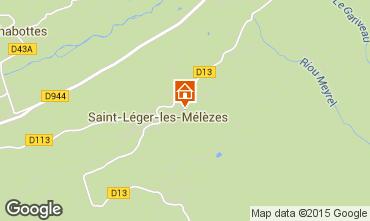 Mapa Saint L�ger les M�l�zes Chalet 74556
