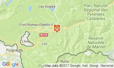 Mapa Font Romeu Chalet 59119