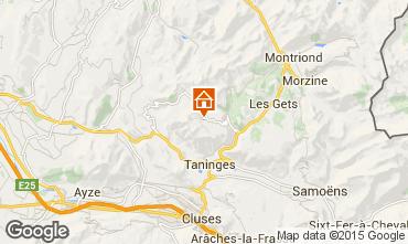 Mapa Praz de Lys Sommand Chalet 66149