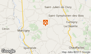Mapa Paray-le-Monial Casa 76475