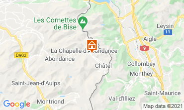 Mapa Châtel Chalet 600